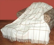 Ivory Plaid Alpaca Throw for sale by Purely Alpaca
