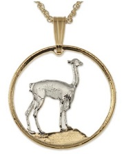 Llama Pendant and Necklace for sale by The Difference World Coin Jewelry