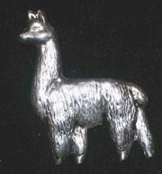 Silver Alpaca Pin for sale by Purely Alpaca