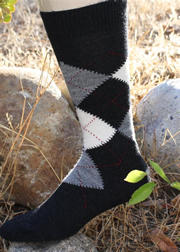 Black Mens Argyle Socks for sale by Purely Alpaca