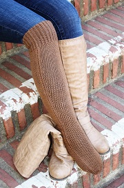 Deluxe Hand Knit Solid Color Long Alpaca Socks