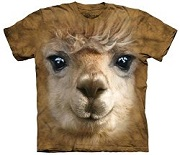 Big Face Alpaca T Shirt made by The Mountain