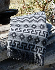 Peruvian Traditional Geometric Alpaca Throw